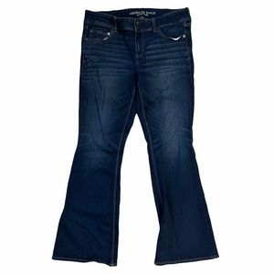 American Eagle Outfitters Artist Flare Blue Jeans